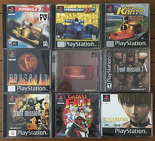 PS1 jeux collection galaxy fight front mission 3 galerians