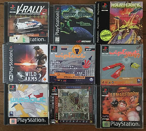 PS1 jeux collection wild arms worms armageddon wipeout