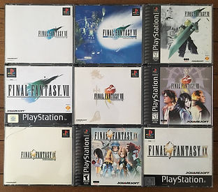 PS1 jeux collection final fantasy