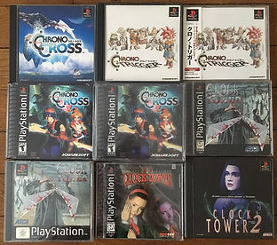 PS1 jeux collection chono cross clock tower trigger