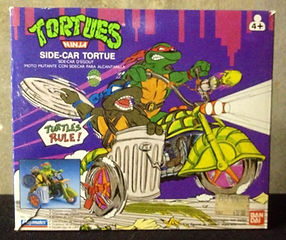 TMNT Tortues Ninja Side-car tortue Bandai FR neuf