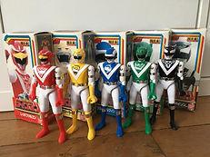 Choujou sentai liveman bioman 3 set complete die cast japan bandai 1988