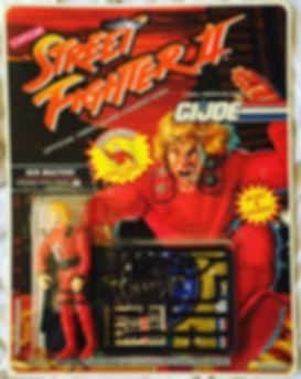 Gi Joe Street Fighter II ken masters moc