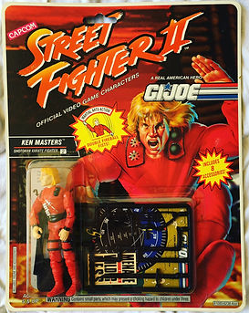 Gi Joe Street Fighter II ken masters moc