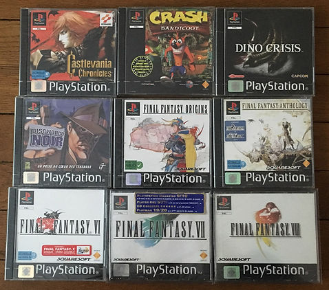 Castlevania Crash Bandicoot Final Fantasy 7 8  Dino Crisis sealed blister PS1 brand new