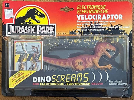 Velociraptor électronique jurassic park toys jouet