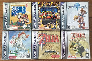 Jeux GameBoy Advance Zelda minish a link to the past tales of phantasia sword of mana street fighter