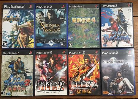 samurai shodown V shadow Hearts basara sengoku seiken densetsu ps2 playstation 2
