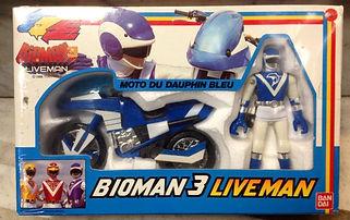 BIOMAN 3 Liveman Moto Dauphin bleu FR