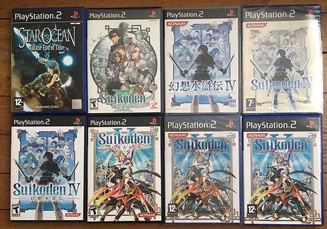 star ocean 3 suikoden III IV V 4 5 neuf new sealed ps2 playstation konami