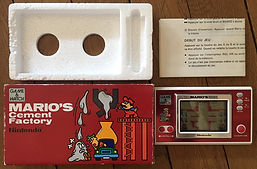 Game & Watch Wide Screen Mario's Cement Factory France touches fr