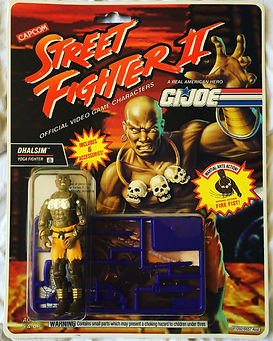 G.I. joe street fighter II dhalsim moc new