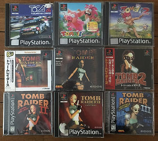 PS1 jeux collection tombi tomb raider 2