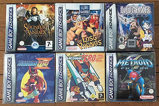 Jeux GameBoy Advance Megaman Lost Vikings Lunar Metroid