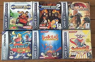 Jeux GameBoy Advance Nintendo Blender Bros Boktai