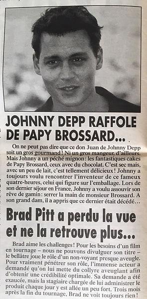 Infos du monde johnny depp papy brossard brad pitt