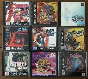 PS1 jeux collection Street Fighter suikoden  alpha 3