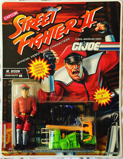 G.I. joe street Fighter II M. bison moc new