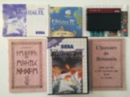 ULTIMA IV - Master System complet + carte e les deux guides de Britannia