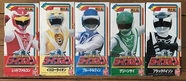Choujo Sentai Livemn set die cast bandai japan 1988