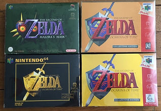 zelda the legend of majora's mask ocarina of time oot n64 pal nintendo 64