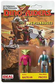 Dino Riders serie 1 ideal rattlar proto pack blister