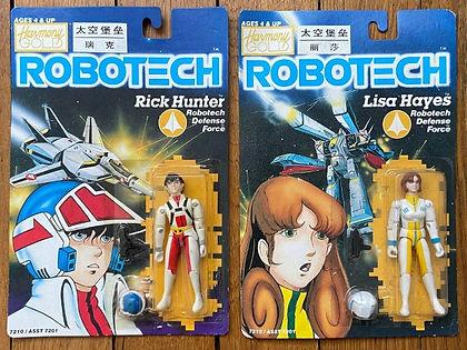 Robotech toys rick hunter lisa hayes harmony gold moc