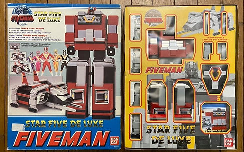 bandai fiveman five robot dx de star luxe france.jpg