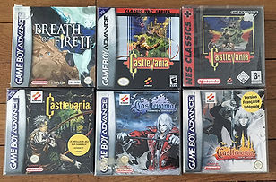 Jeux GameBoy Advance Breath of fire Castlevania Aria Harmony
