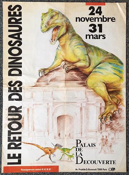 Le retour des dinosaures palais de la découverte affiche 1992 1993