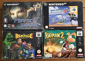 Perfect Dark Rayman rampage pilotwings n64 nintendo 64