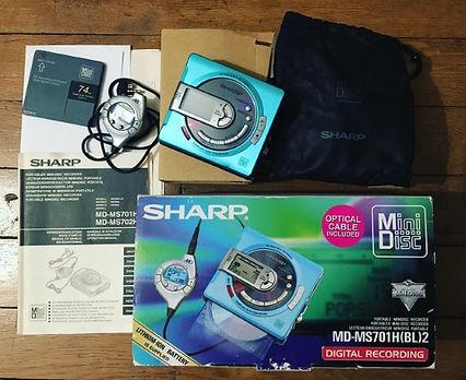 mini disc sharp md-ms701h(bl)2 digital recording