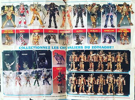 Publicité Chevaliers du zodiaque française