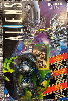 Alien aliens gorilla kenner carte euro action figure