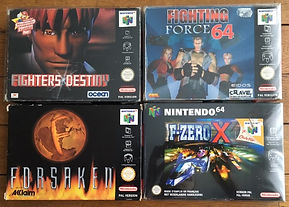fighting force 64 n64 nintendo f-zero x forsaken