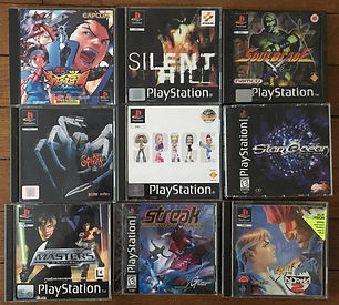 PS1 jeux collection silent Hill soulblade spider star ocean