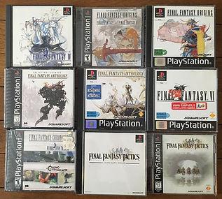 PS1 jeux collection final fantasy