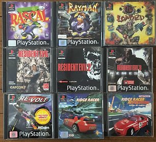 PS1 jeux collection resident evil reloade ridge racer