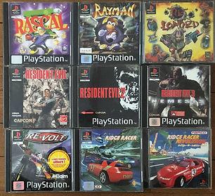 PS1 jeux collection resident evil reloade ridge racer