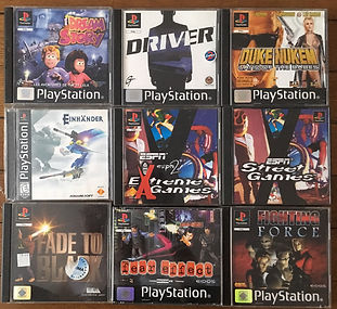 PS1 jeux collection einhander extreme games