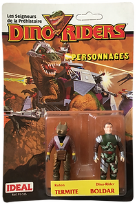 Dino Riders serie 1 ideal termite boldar pack blister
