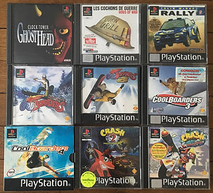 PS1 jeux collection Crash Bandicoot les cochons de guerre