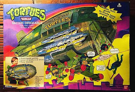 TMNT Tortues Ninja Ballon Dirigeable playmates 1991