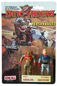 Dino Riders serie 1 ideal krulos Questar pack blister