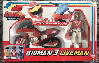 BIOMAN 3 Liveman Moto Faucon Rouge FR