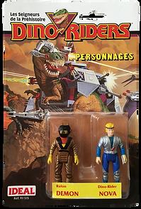 Dino Riders serie 1 ideal demon nova pack blister