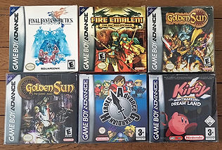 Jeux GameBoy Advance Fire Emblem Golden Sun Kirby