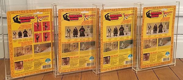 Indiana Jones Raiders of the lost ark original 4 back KENNER 1982 set