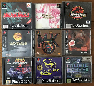 PS1 jeux collection mortal kombat mgs