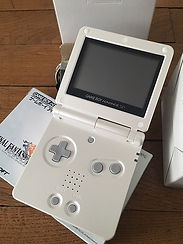 Nintendo GameBoy Advance GBA Pearl White limited Japan Final Fantasy Tactics